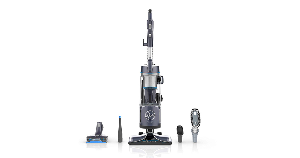Hoover UH73510PC React Powered Reach Plus Bagless Upright Vacuum Cleaner image