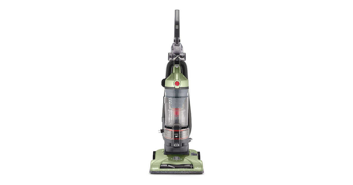 Hoover UH70120 T-Series WindTunnel Rewind Plus Bagless Corded Green Upright Vacuum image