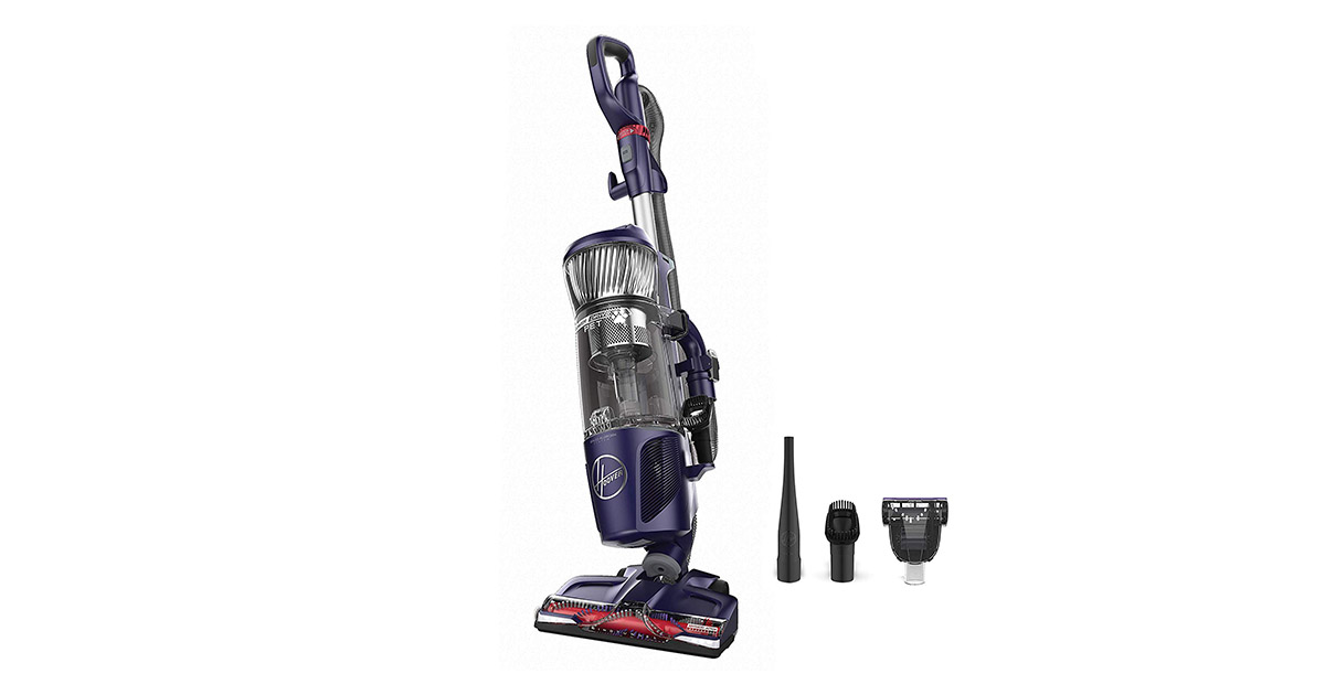 Hoover UH74210PC Power Drive Bagless Multi Floor Upright Vacuum Cleaner with Swivel Steering for Pet Hair image