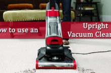 Guide to use Upright Vacuum Cleaner
