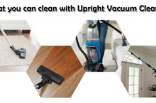 What we can clean with Upright Vacuum Cleaner?